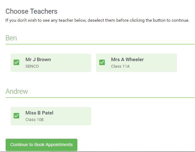Step 4: Choose Teachers