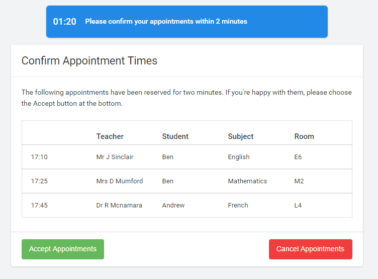 Step 5a (Automatic): Book Appointments
